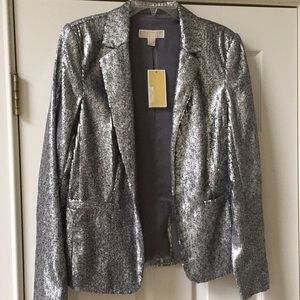 New/with Tags Michael Kors Silver Sequin  Blazer